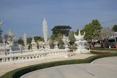 Άσπρος ναός, Wat Rong Khun σε Chiang Rai, Ταϊλάνδη Στοκ Φωτογραφία