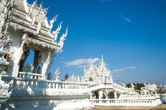 Άσπρος ναός, Wat Rong khun Στοκ Φωτογραφίες