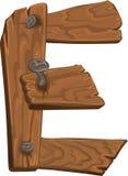 άσπρος ξύλινος επιστολών  διανυσματική απεικόνιση