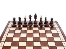 άσπρος ξύλινος σκακιού α&n Στοκ εικόνα με δικαίωμα ελεύθερης χρήσης