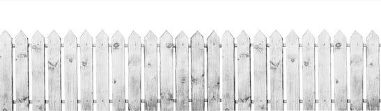 άσπρος ξύλινος φραγών Στοκ Φωτογραφίες
