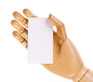 άσπρος ξύλινος χεριών καρ&tau Στοκ Εικόνες