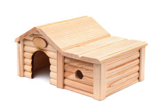άσπρος ξύλινος παιχνιδιών ανασκόπησης απομονωμένος σπίτι στοκ εικόνες