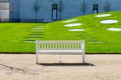 Άσπρος πάγκος Στοκ εικόνες με δικαίωμα ελεύθερης χρήσης