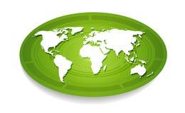 Άσπρος παγκόσμιος χάρτης. Στοκ Εικόνες