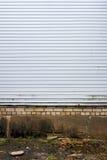 Άσπρος πλαστικός τοίχος σανίδων Στοκ εικόνες με δικαίωμα ελεύθερης χρήσης