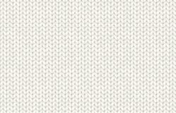 Άσπρος ρεαλιστικός πλέκει το διανυσματικό άνευ ραφής σχέδιο σύστασης Στοκ εικόνες με δικαίωμα ελεύθερης χρήσης