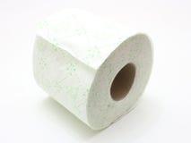 Άσπρος ρόλος του χαρτιού τουαλέτας Στοκ φωτογραφία με δικαίωμα ελεύθερης χρήσης