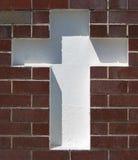 Άσπρος σταυρός Στοκ φωτογραφίες με δικαίωμα ελεύθερης χρήσης