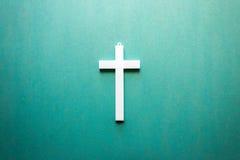 Άσπρος σταυρός Στοκ Εικόνα