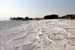 Άσπρος σχηματισμός pamukkale Τουρκία Στοκ φωτογραφίες με δικαίωμα ελεύθερης χρήσης