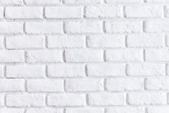 Άσπρος τοίχος τούβλου Στοκ Εικόνες