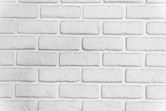 Άσπρος τοίχος τούβλου Στοκ εικόνα με δικαίωμα ελεύθερης χρήσης
