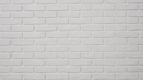 Άσπρος τουβλότοιχος με το κεραμωμένο πάτωμα ως υπόβαθρο απόθεμα βίντεο
