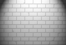 Άσπρος τουβλότοιχος για το υπόβαθρο ή τη σύσταση Στοκ Εικόνα