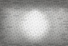 Άσπρος τουβλότοιχος για το υπόβαθρο ή τη σύσταση Στοκ Εικόνες