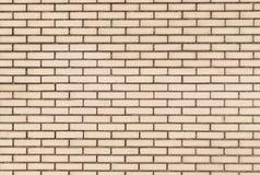 Άσπρος τουβλότοιχος με το μαύρο κονίαμα Στοκ Φωτογραφίες