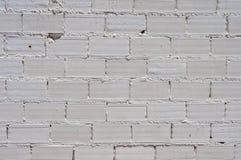 Άσπρος τουβλότοιχος Στοκ εικόνες με δικαίωμα ελεύθερης χρήσης
