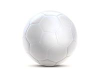 Άσπρος τρισδιάστατος σφαιρών ποδοσφαίρου Στοκ φωτογραφία με δικαίωμα ελεύθερης χρήσης