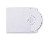Άσπρος φάκελος με το δίσκο Cd Στοκ εικόνα με δικαίωμα ελεύθερης χρήσης