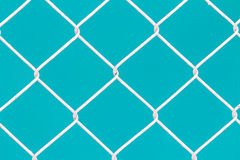 Άσπρος φράκτης καλωδίων Στοκ φωτογραφία με δικαίωμα ελεύθερης χρήσης