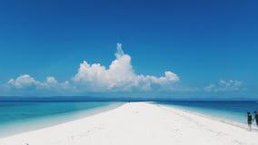 Άσπρος φραγμός άμμου Στοκ Φωτογραφία