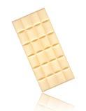 Άσπρος φραγμός σοκολάτας που απομονώνεται στο άσπρο υπόβαθρο στοκ φωτογραφίες