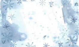 άσπρος χειμώνας της Ισπανίας βουνών τοπίων ανασκόπησης Ζωγραφική Watercolor, εικόνα - δάσος, φύση, δέντρο Μπορεί να χρησιμοποιηθε απεικόνιση αποθεμάτων
