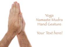 άσπρος yogic θέσης mudra χεριών anjali namaste Στοκ Εικόνες