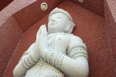 Άσπρο άγαλμα αγγέλου αρχιτεκτονικής Στοκ φωτογραφίες με δικαίωμα ελεύθερης χρήσης