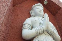 Άσπρο άγαλμα αγγέλου αρχιτεκτονικής Στοκ εικόνες με δικαίωμα ελεύθερης χρήσης