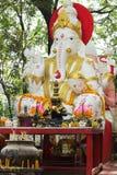 Άσπρο άγαλμα ganesha Στοκ Φωτογραφία