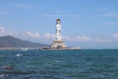 Άσπρο άγαλμα Guanyin Στοκ Εικόνες
