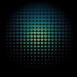 Άσπρο άνευ ραφής σχέδιο καρδιών στο ρόδινο υπόβαθρο, χρήση για την ταπετσαρία, σχέδιο, υπόβαθρο ιστοσελίδας, συστάσεις επιφάνειας Στοκ φωτογραφία με δικαίωμα ελεύθερης χρήσης