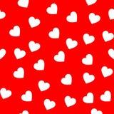 Άσπρο άνευ ραφής σχέδιο καρδιών χρώματος στοκ εικόνα με δικαίωμα ελεύθερης χρήσης