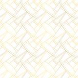 Άσπρο άνευ ραφής σχέδιο με τα χρυσά νήματα Υπόβαθρο πολυτέλειας Στοκ Εικόνες