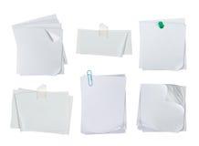 Άσπρο έγγραφο σημειώσεων Στοκ φωτογραφία με δικαίωμα ελεύθερης χρήσης