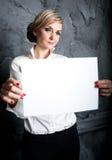 Άσπρο έμβλημα Στοκ φωτογραφία με δικαίωμα ελεύθερης χρήσης