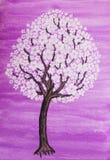 Άσπρο δέντρο στο άνθος απεικόνιση αποθεμάτων