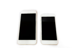 Άσπρο έξυπνο τηλέφωνο που απομονώνεται Στοκ Εικόνες