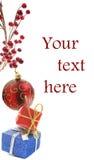 άσπρο έτος διακοσμήσεων s Χριστουγέννων νέο Στοκ εικόνα με δικαίωμα ελεύθερης χρήσης