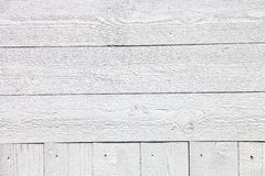 Άσπρο αγροτικό ξύλινο υπόβαθρο σανίδων Στοκ Εικόνα