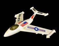 Άσπρο αεροπλάνο παιχνιδιών Πολεμικής Αεροπορίας Στοκ εικόνα με δικαίωμα ελεύθερης χρήσης