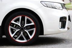 Άσπρο αθλητικό αυτοκίνητο Στοκ Εικόνες