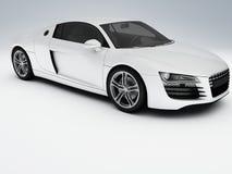 Άσπρο αθλητικό αυτοκίνητο Στοκ Εικόνα