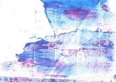 Άσπρο αφηρημένο υπόβαθρο watercolor Azureish Στοκ εικόνα με δικαίωμα ελεύθερης χρήσης