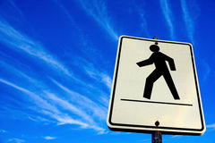 Άσπρο για τους πεζούς σημάδι περπατήματος Διανυσματική απεικόνιση