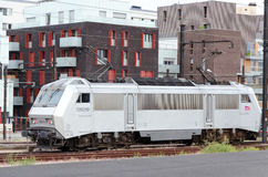 Άσπρο εκλεκτής ποιότητας ηλεκτρικό τραίνο Στοκ εικόνες με δικαίωμα ελεύθερης χρήσης