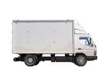 Άσπρο εμπορικό φορτηγό παράδοσης Στοκ φωτογραφία με δικαίωμα ελεύθερης χρήσης