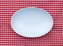 Άσπρο εξυπηρετώντας Platter πιάτο (ωοειδές πιάτο) Στοκ Εικόνα